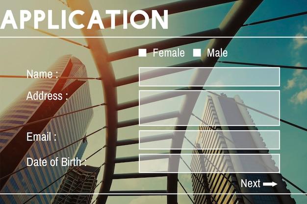 Registrati nome utente account summit banner Foto Gratuite