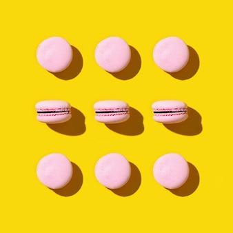 프랑스 쿠키 마카롱의 규칙적인 창의적인 패턴