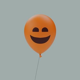 일반 미소 유령의 할로윈 무서운 만화 얼굴 풍선 이모티콘 격리 된 3d 그림 렌더링