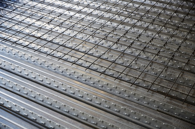 Reinforced concrete slab sheet metal formwork