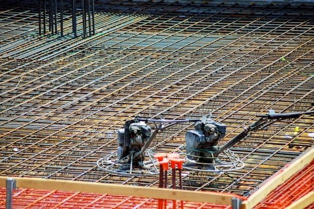 Reinforced steel rods for building structures, steel rebars for reinforced concrete.