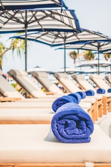Relax beach nature chair blue