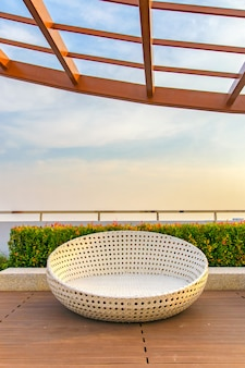Relax corner on condominium rooftop