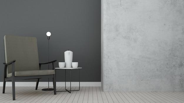 다락방 공간 휴식 콘도에서 콘크리트 벽 장식