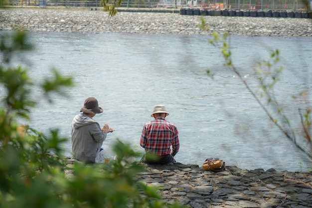 Relax on lunch time at the river