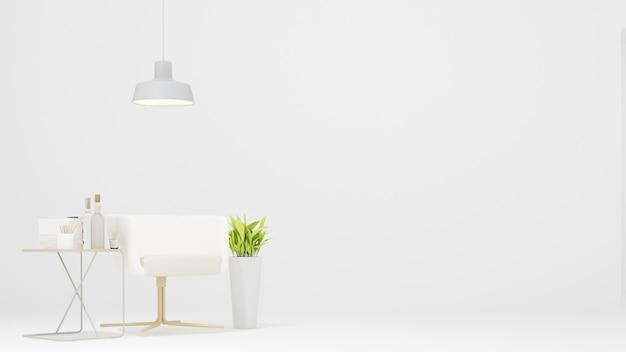 Relax space in condominium white background