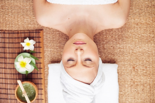 Relaxation beauty cosmetic enjoy face