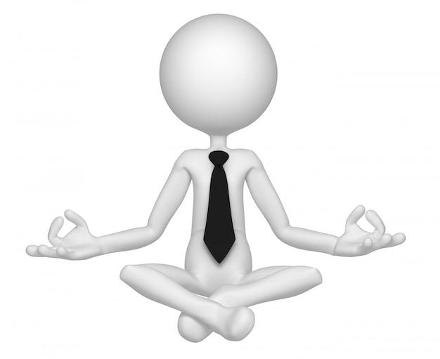 Расслабленный бизнесмен медитирует