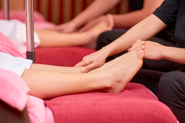 Relaxed feet massage
