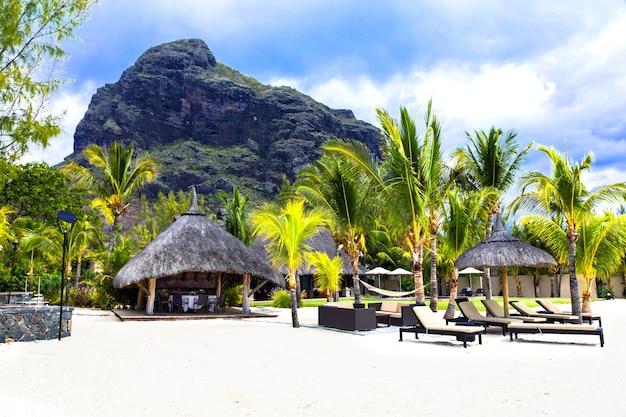 熱帯の楽園でのリラックスした休日。モーリシャス島