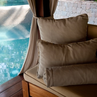 Relaxing pillows in at florblanca resort in costa rica
