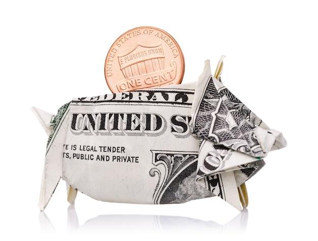 貯金箱で確実にお金を節約し、国の経済を1セント強化する