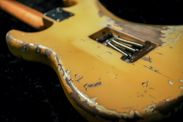 Relic guitar body back side