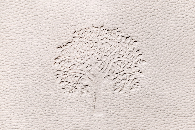 Relief texture with wood on a white background.white embossed faux leather background.