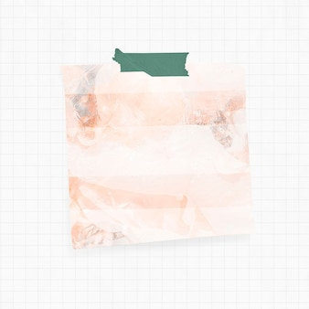 주황색 연기 배경과 와시 테이프가 있는 알림
