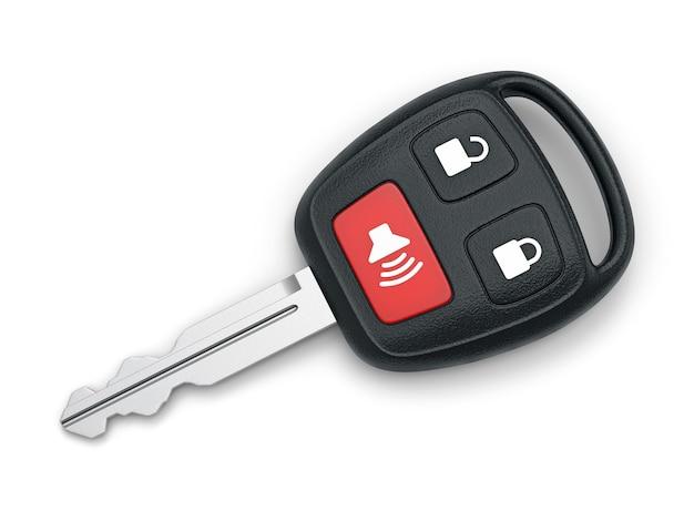 흰색 배경에 고립 된 원격 자동차 키