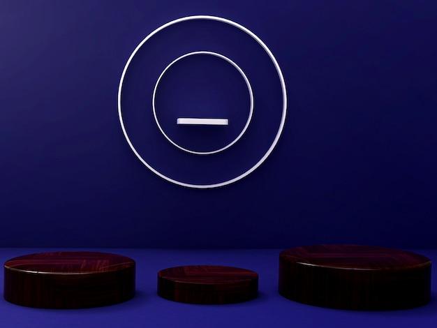 Рендеринг 3d-комнаты обоев фона
