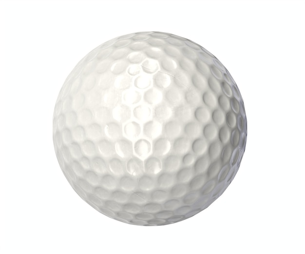 Render or golf ball isolated wall.