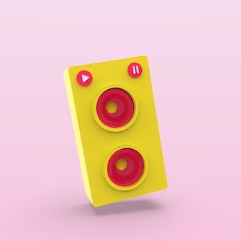 Render illustration speaker music