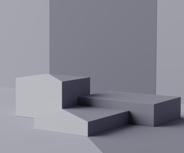 디스플레이 제품 및 화장품 광고를위한 최소 상자 연단 장면 렌더링 장면