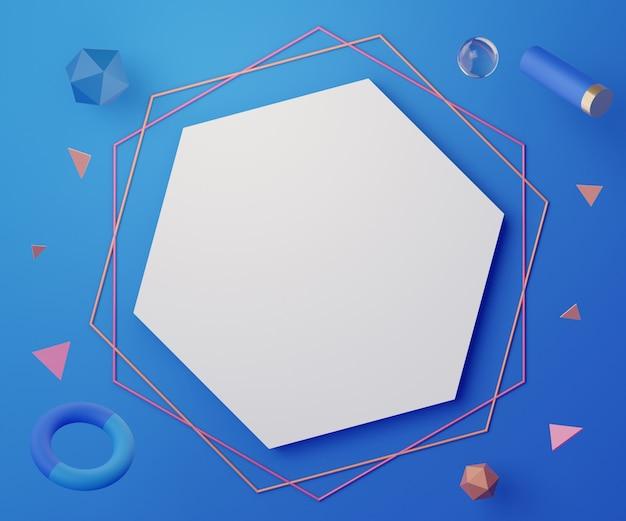Рендеринг абстрактных геометрических фигур для макета и пре-санации изделий