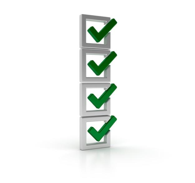 Rendering illustration of checklist