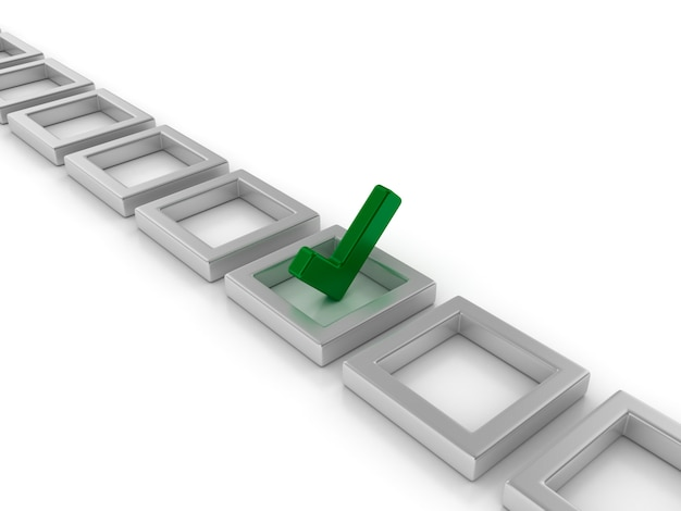 Rendering illustration of checkmark