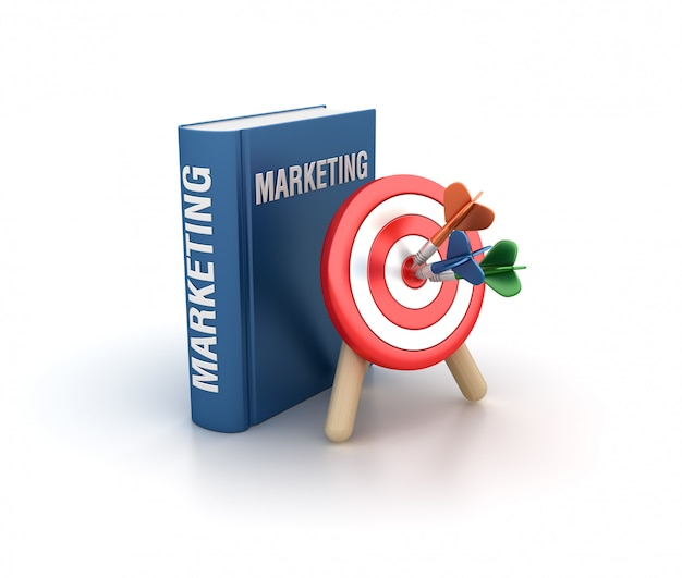 Rendering illustration of marketing book with target