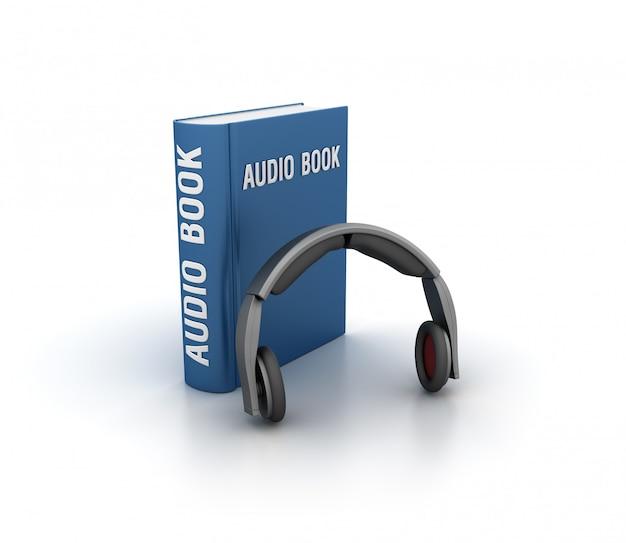 Рендеринг иллюстрации аудио книги с наушниками