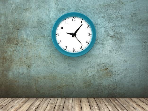 Рендеринг иллюстрация часов на бетонной стене