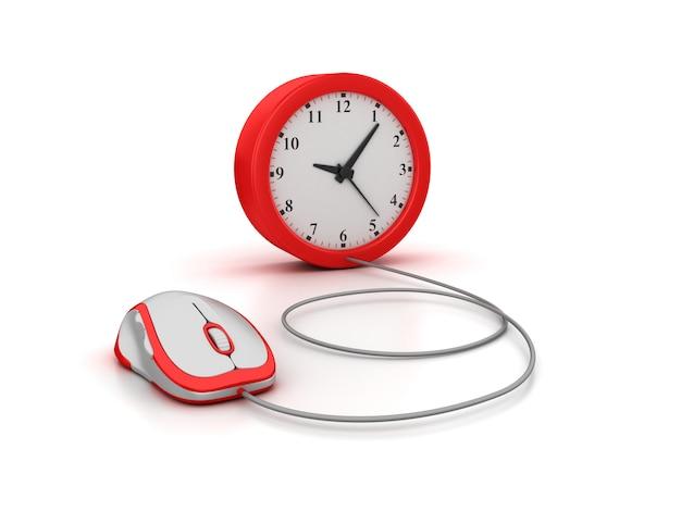 Рендеринг иллюстрации часов с компьютерной мышью