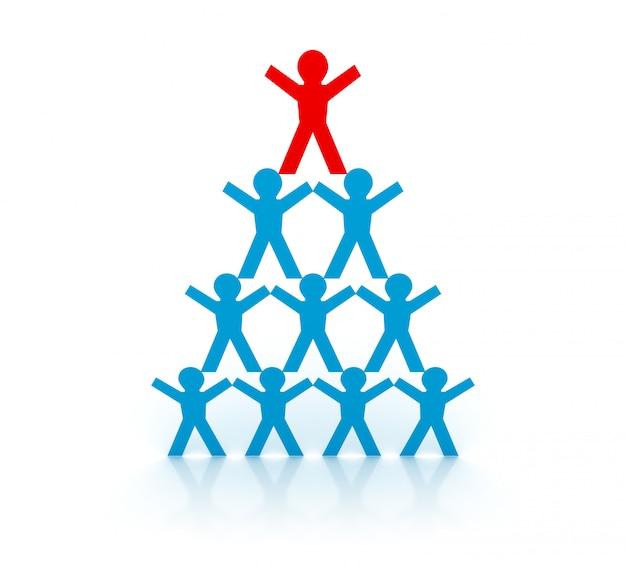 Оказание иллюстрации пиктограмма команде людей с лидерством