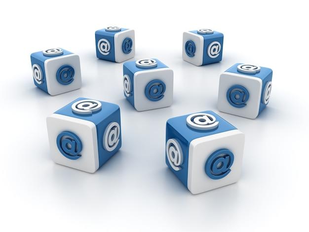 Визуализация иллюстрации блоков плитки с at symbol