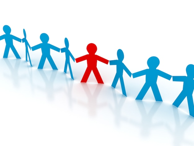 Rendering illustration of the teamwork