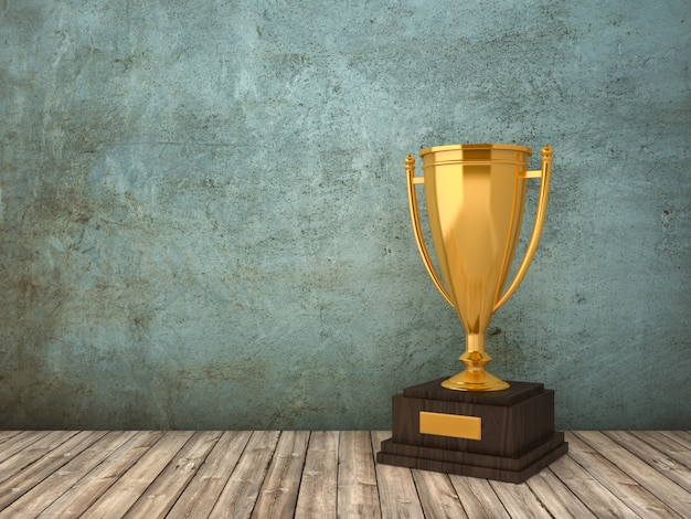 Rendering illustration of trophy