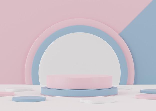 Рендеринг реалистичного современного минималистского подиума
