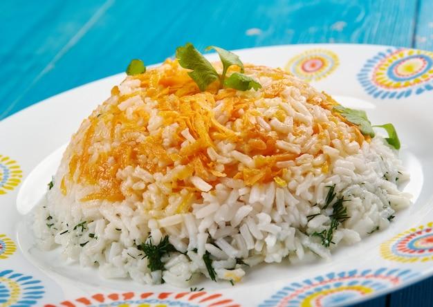 Ренкли плов - турецкий плов с овощами