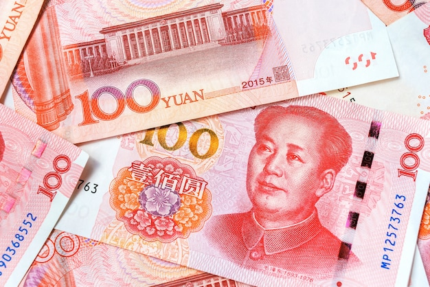 Renminbi official currency of china. chinese money.