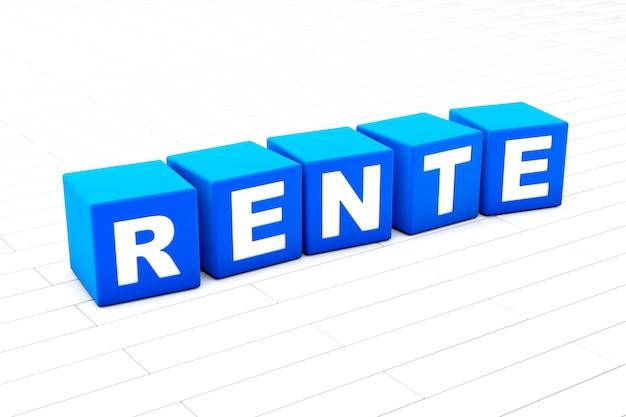 Rente word illustration