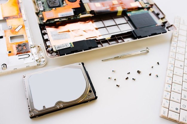 Repair and check of the laptop