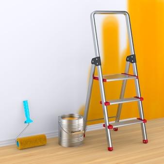 실내 수리 벽 페인팅