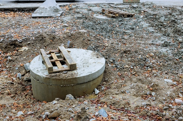 都市供給下水道の修理、マンホール衛生下水道の交換、道路の排水システムの修理