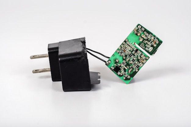 Repair power ac to dc adaptor