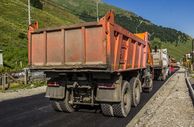 Repair of the road in the elbrus region