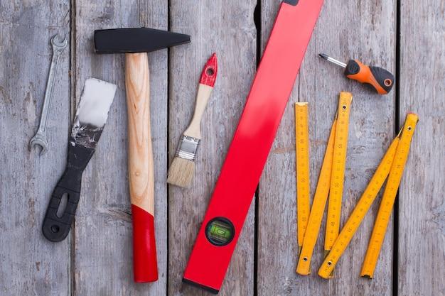Набор инструментов для ремонта фон строительные инструменты