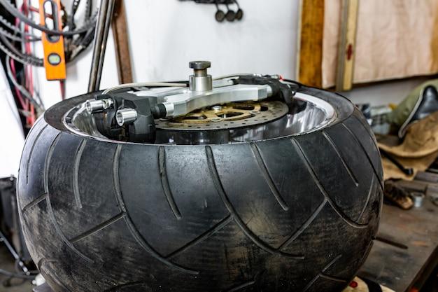 Repairing motorcycle tire with repair kit, tire plug repair kit for tubeless tires.