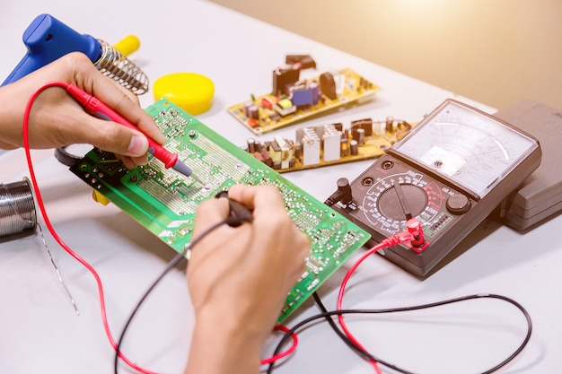 Repairs electronics manufacturing services.