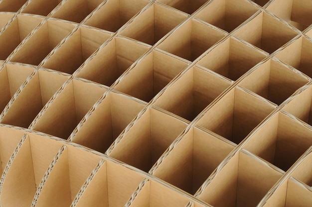 Repeated structure of recycle carton cardboard