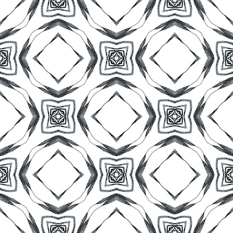 Repeating striped hand drawn border. black and white immaculate boho chic summer design. textile ready amazing print, swimwear fabric, wallpaper, wrapping. striped hand drawn design.