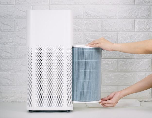 Замените фильтр очистителя воздуха в доме.